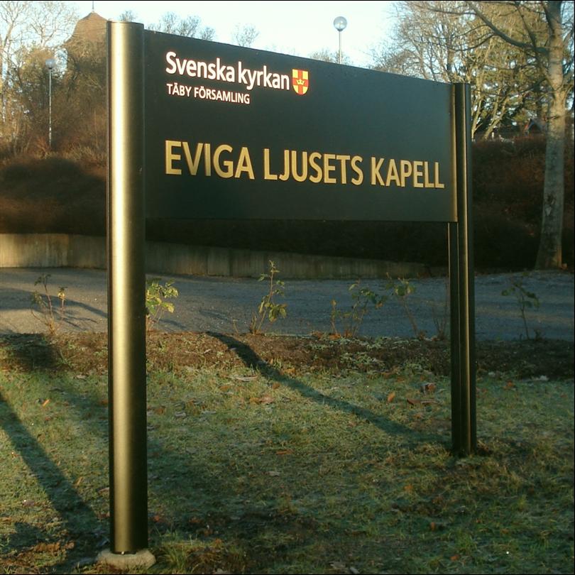 Swedsign informationstavla Out-Line Ellips, Modell A