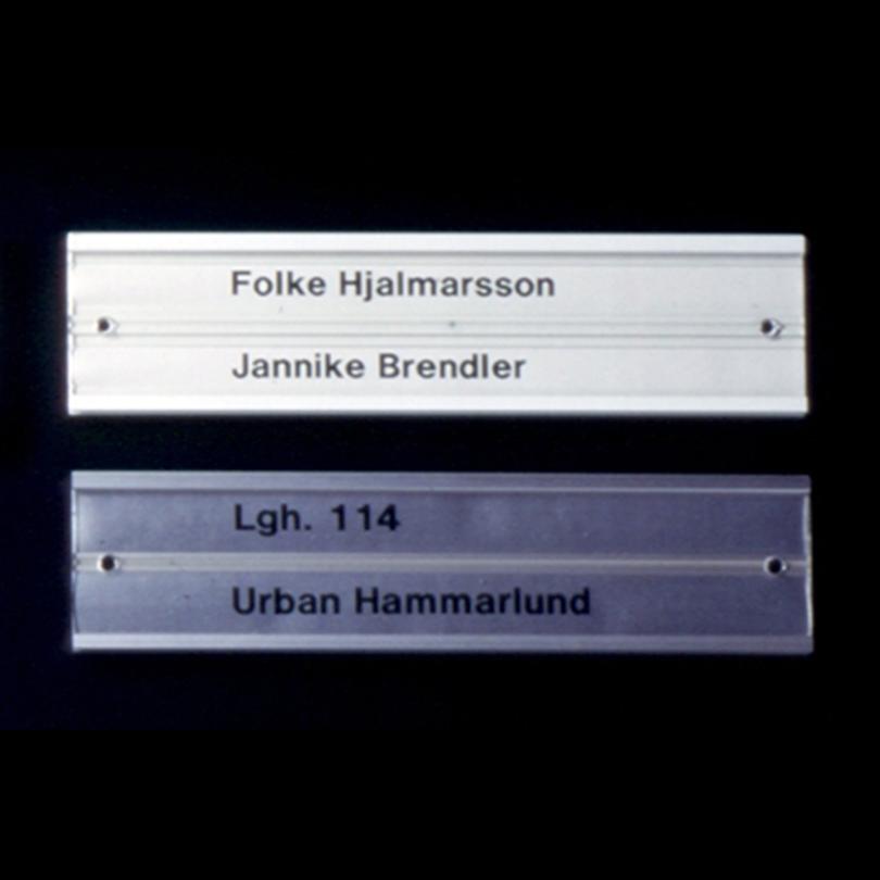Swedsign lägenhetsskyltar K40