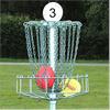 Urustning för frisbeegolf, korgar av stål