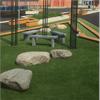 Konstgräs för landscaping, fallskydd, återvinningsbart konstgräs, lekplatser, skolgårdar, trädgårdar, trafikplatser