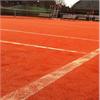 Syntetiskt rödgrus för tennisbana, rött, blått, grönt