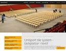 Unisport Tile System på webbplats