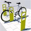 Cykelpollare gjord av laserskuren stålplåt