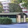 Förrådsbyggnad med aluminiumstomme, med bågformat tak