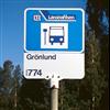 Trafikmiljö hållplatsskylt/topptavla