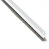 ALX 213 tilluftskena 8x17 aluminium, 12 mm borst