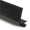 KP V-list 12 mm, sil. sågspår svart