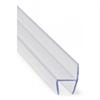 Transparant h-profil för tätning mellan glas i ramlösa balkonginglasningar