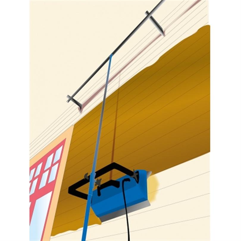 IR-lampa SH 2000 med fasadhållare