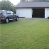 Ecoraster gräsarmering på garageuppfart