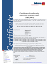 Certificate of conformity 0799-CPR-81 BG-Tex