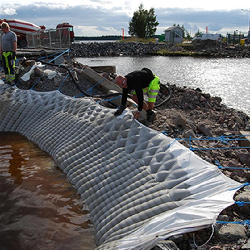 Byggros Incomat geosyntetisk betongmadrass