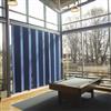 Absoflex Akustikdraperi, textildraperi blå skola