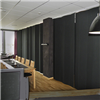Absoflex Akustikdraperi, textildraperi svart restaurang