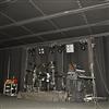 Absoflex Akustikdraperi, textildraperi svart scen