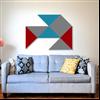Absoflex Flex Triangel väggabsorbent ovanför soffa