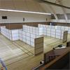 Absoflex avgränsande Palettskärmar i idrottshall