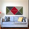 Acqwool Pad Triangle väggabsorbenter ovanför soffa