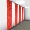 Acqwool Qwaiet Compact Stripe Wall frihängande ullpaneler mot vägg