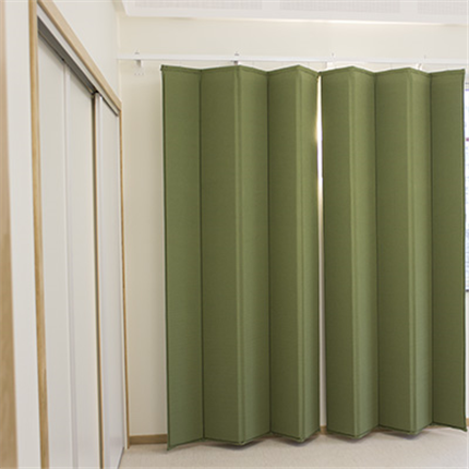 Absoflex Akustikdraperi, textildraperi grön musiksal
