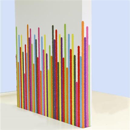 Absoflex Akustiktavla med mönster 100mm väggabsorbent stripes