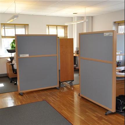 Absoflex Kulörskärm, skärmvägg kontor