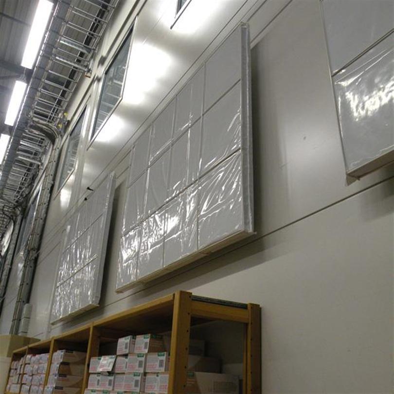 Absoflex Renett hygienabsorbent, industrivägg