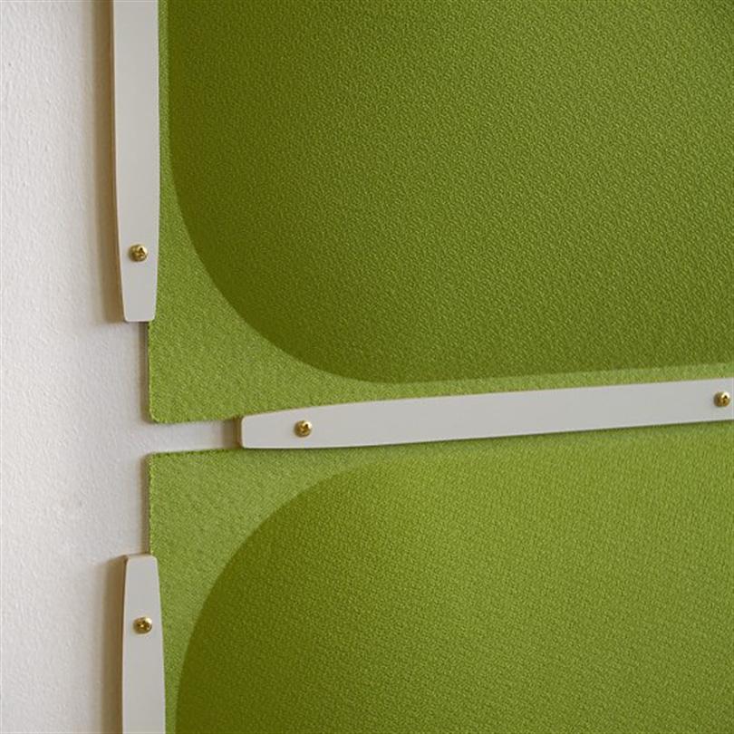 Absoflex Valvett, Detalj väggabsorbent ljud grön