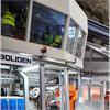 Ljudisolerande operatörshytter, ergonomiskt produktionskontor, säkert kontrollrum, ventilation, kyla, el, kontrolrumsbord