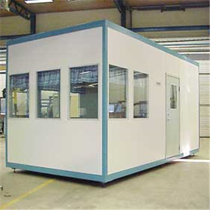 Ljudisolerat kontor, flyttbart manöverrum, operatörshytt, rumsenhet, komfortventilation