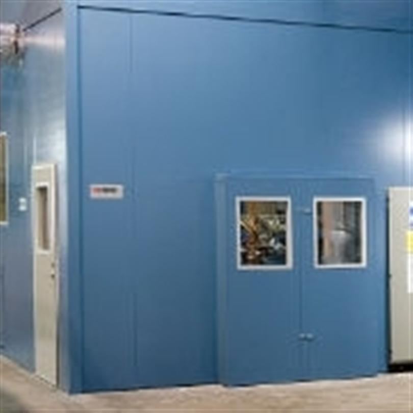 Inbyggnad, ljuddämpande maskinbyggnader, avskärmning, bullerisolering, ljudisolerning, flexibla byggsystem