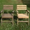 Stolen till höger rengjord med Redo Trärent