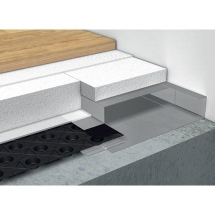 Till- och frånluftskanaler för hög bygghöjd används i golv där bygghöjden är minst 60 mm. Cellplast används för att skapa rätt bygghöjd