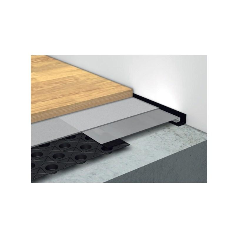 Till- och frånluftskanaler för låg bygghöjd används i golv där bygghöjden ska vara så låg som möjligt. Parkett direkt på distansmattan ger en total bygghöjd på 23 mm