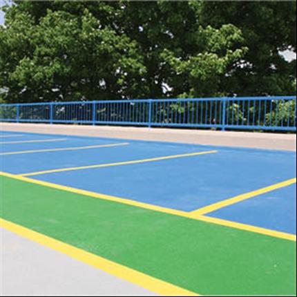 Slitstark parkeringshusbeläggning, färgad golvbeläggning