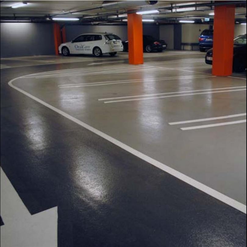 Flexibel parekeringshusbeläggning, vattentäta parkeringshus, blank yta