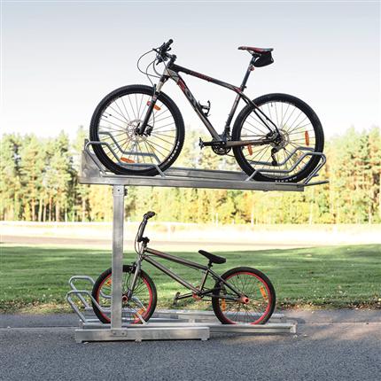 Axelent Cykelställ i två våningar