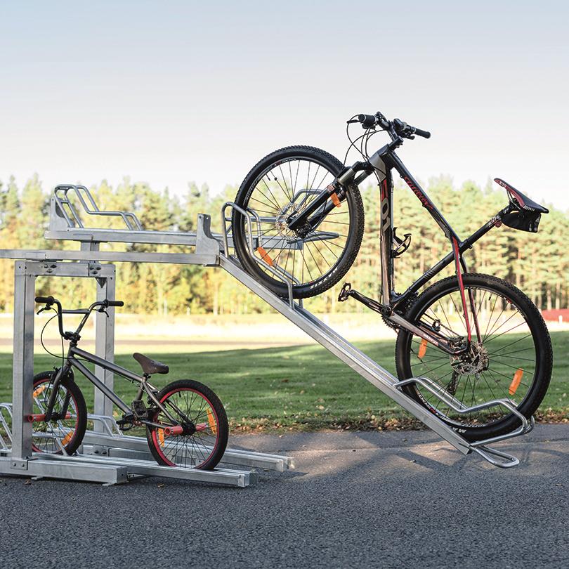 Axelent Cykelställ Safe-Ex i två våningar med utdragbara skenor