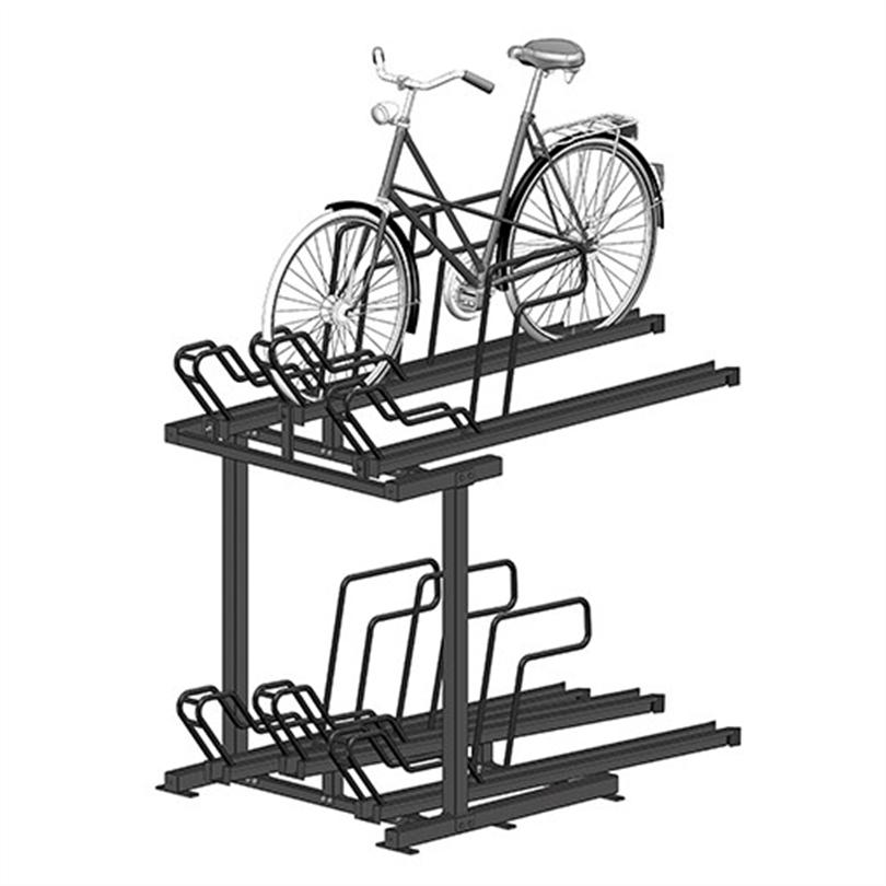 Axelent Cykelställ i två våningar utan utdragbara skenor