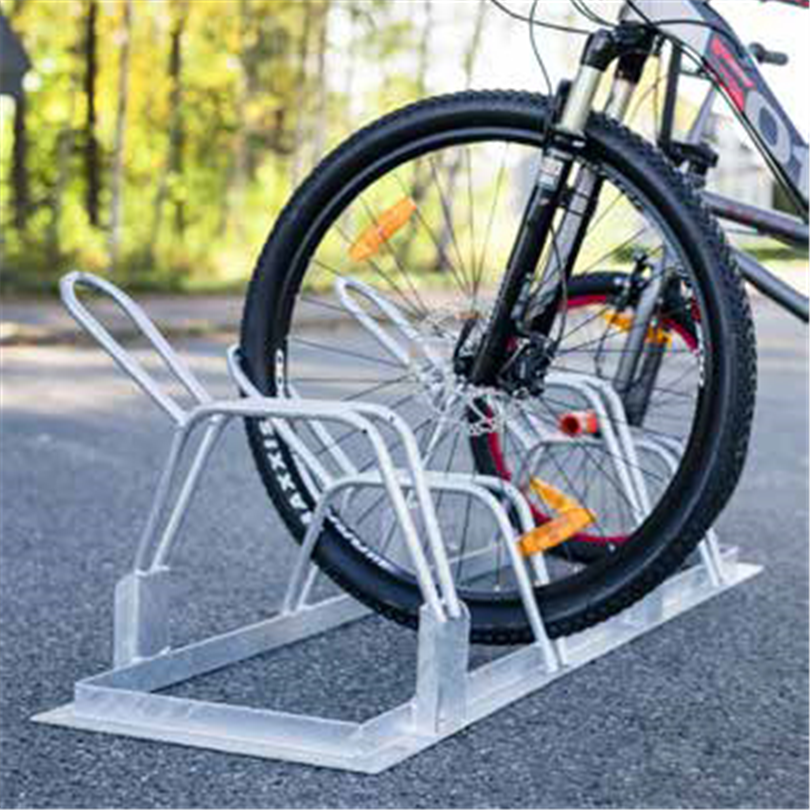 Axelent dubbelt cykelställ Safe-X för markplacering