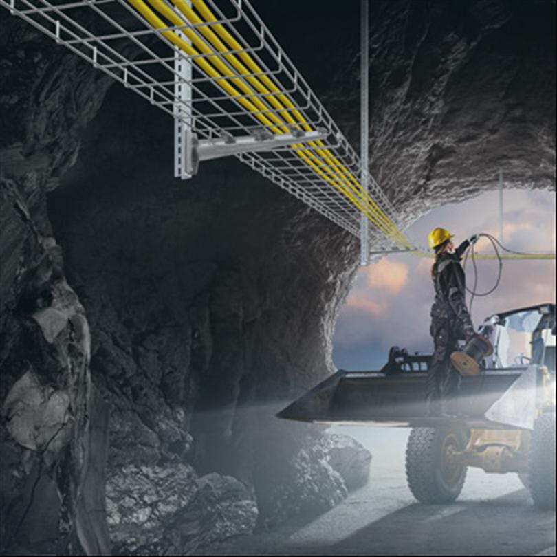 Axelent X-Tray trådstegar i gruvor