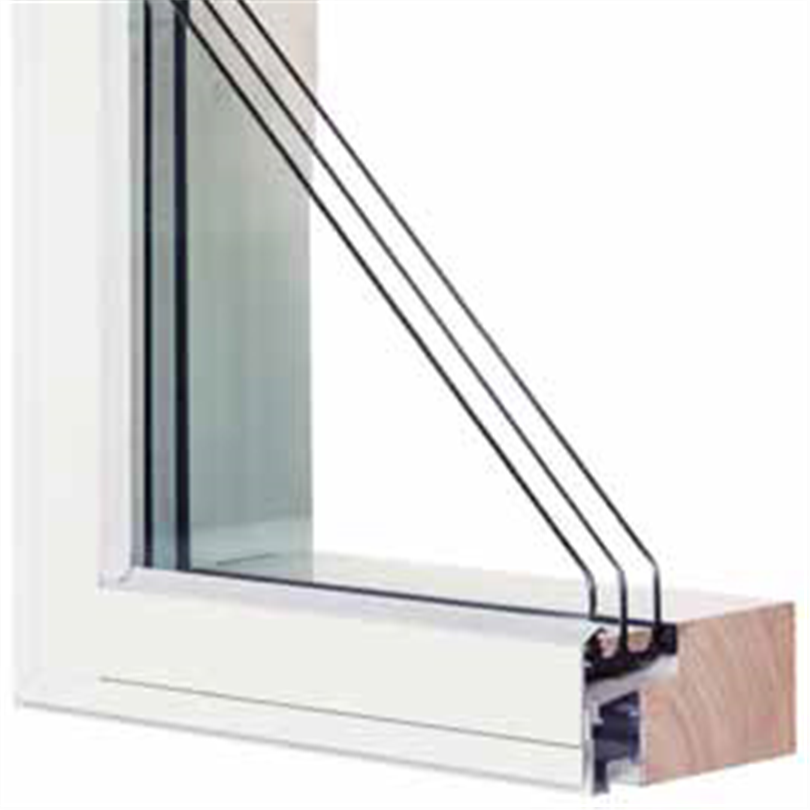 HALK Fast fönster, 3-glas isolerruta, slät utsida