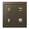 D-life KNX Tryckknapp Pro, med fyra knappar; ljus och jalusi