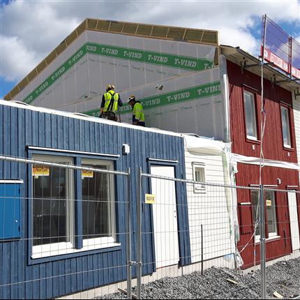 Norrlands Trähus lägenhetsavskiljande väggar