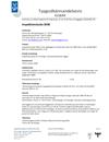 Thonic-luckan 3030, Typgodkännandebevis 0118/04