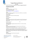 Thonic-luckan 6040, Typgodkännandebevis 0117/04