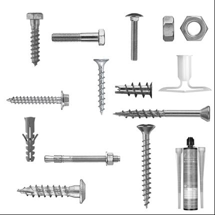 Byggskruvar och tillbehör