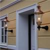 Kulturbelysning lykthus Koniskt III med väggfäste rakt mellan.