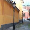 Stolpe Linköping med lykthus Slottsbacken