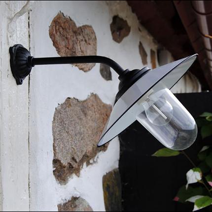 Kulturbelysning Lykthus på väggfäste
